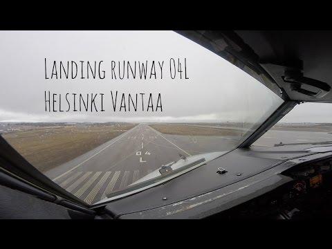 Approach and Landing Helsinki Vantaa airport (HEL EFHK)