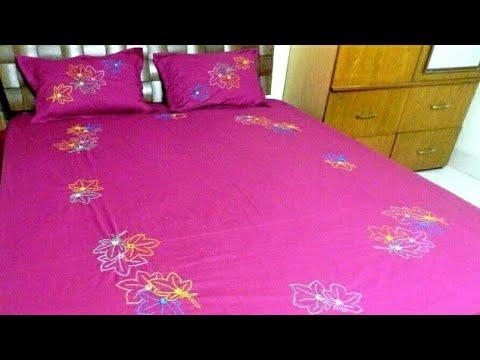 Hand Embroidery Bed Sheet Design Braid Stitchcoral Stitchmirror