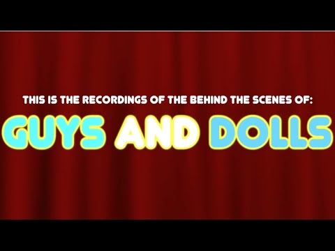 Guys and Dolls Musical [2016] Behind the scenes