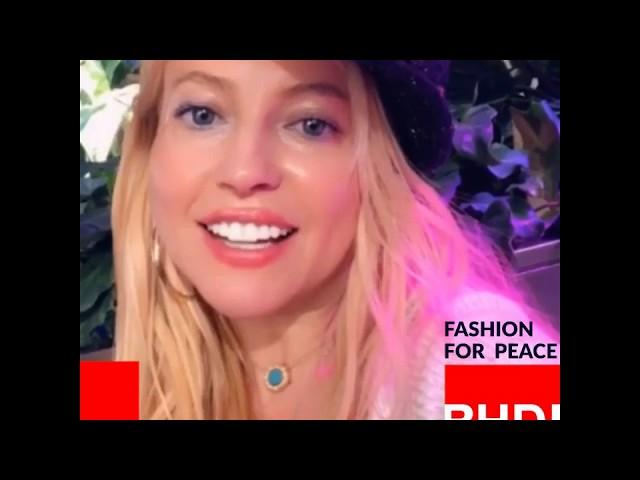 Watch Anna Kulinova's message on Fashion for Peace