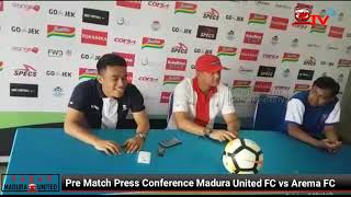 Download Video Pre Match Press Conference Madura United FC vs Arema FC MP3 3GP MP4
