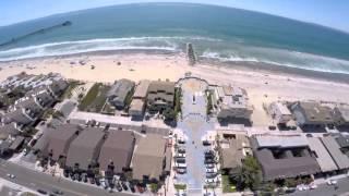 Imperial Beach California aerial drone view