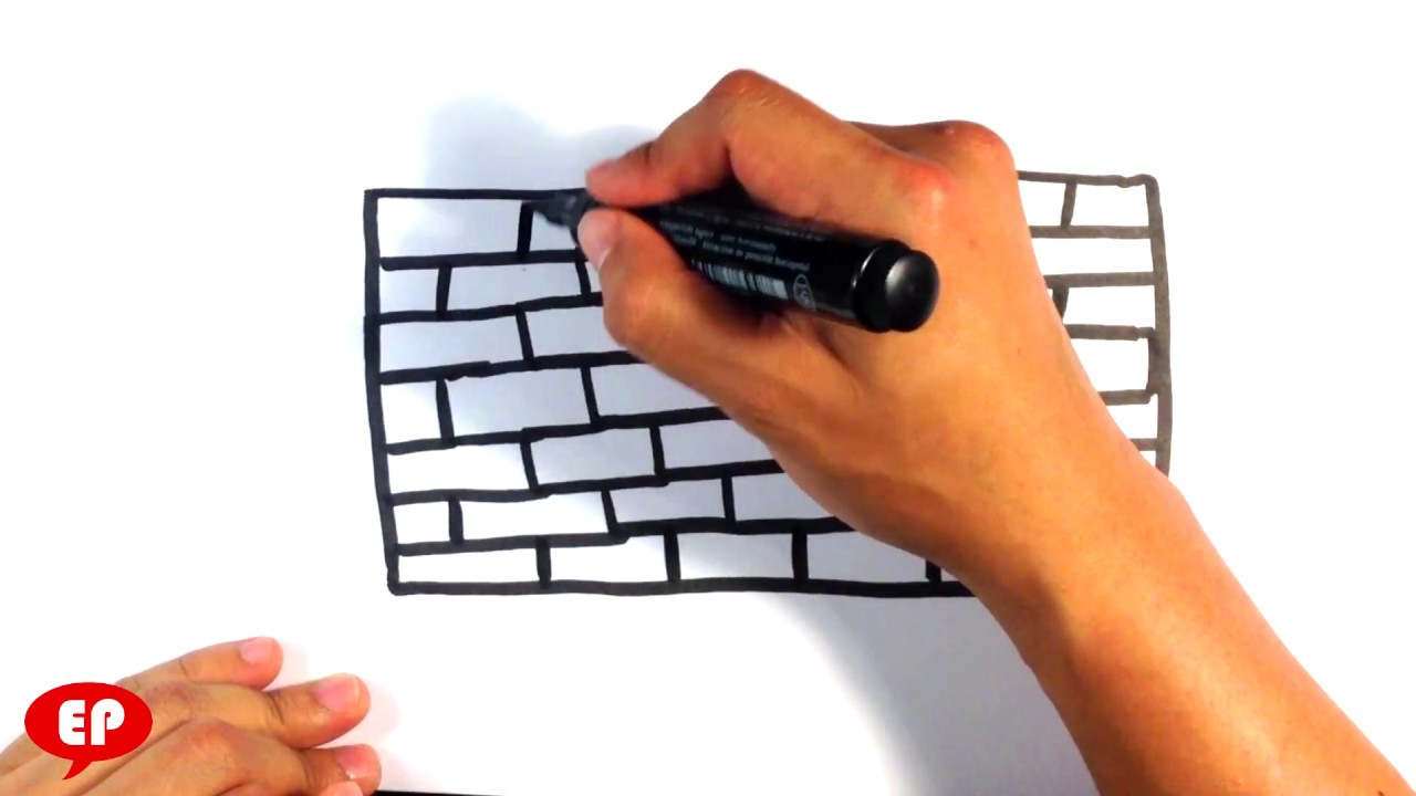 How To Draw A Brick Wall Cartoon Easy Pictures To Draw Youtube