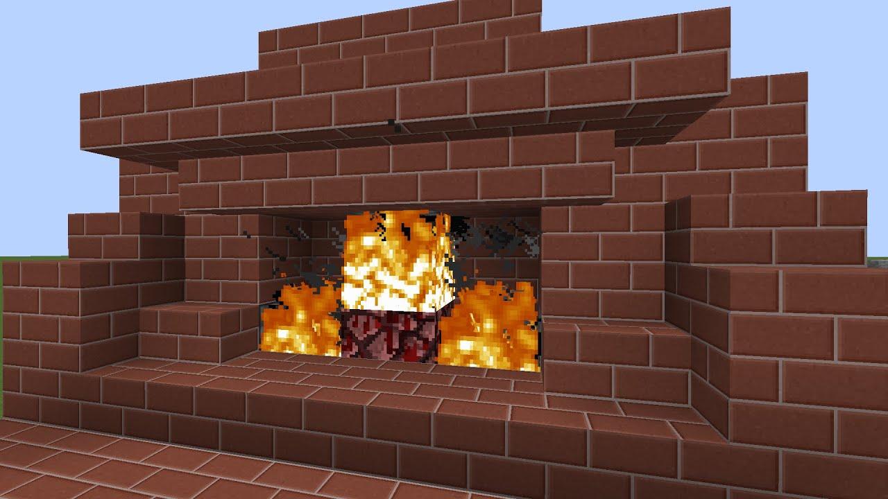 minecraft 3 wide hidden redstone fireplace staircase tutorial