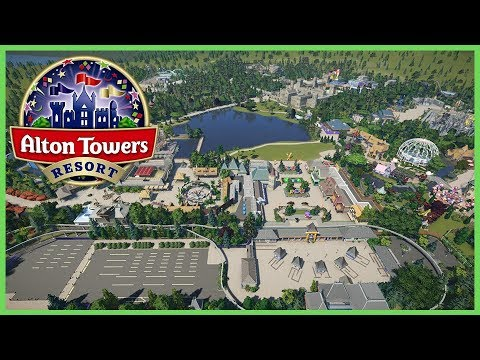 Alton Towers Resort! Re-creation! Park Spotlight 89 #PlanetCoaster