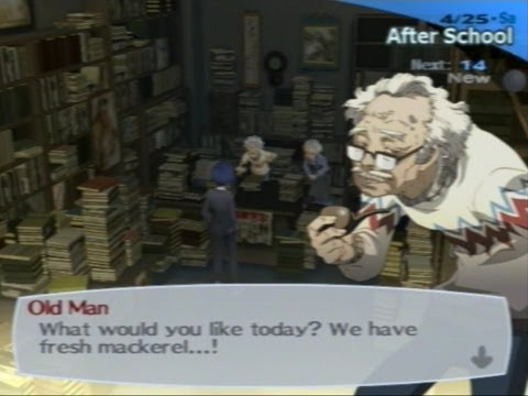 Let's Play Persona 3 FES part 8: Bookstore Opening
