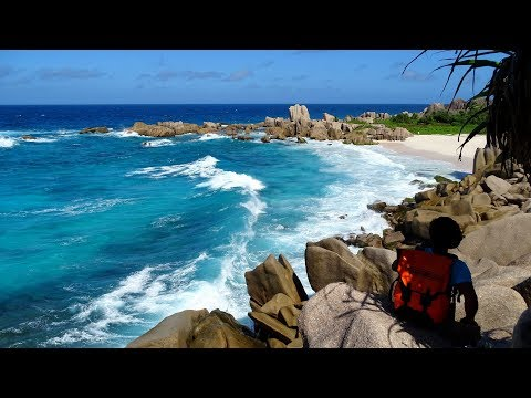 Grand Anse Anse Marron Source D'Argent Hiking With Coco Trail Guide La Digue Seychelles 2017 4k