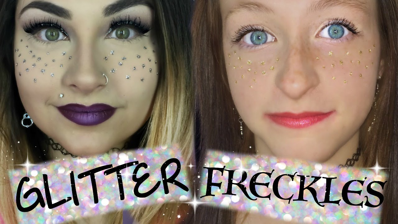 how to draw freckles on face
