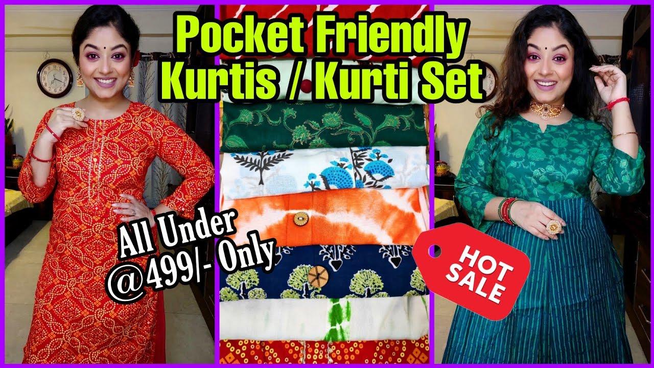 Under 499/- Kurtis😄Pocket Friendly Amazon & Flipkart Style Kurta & Kurti Sets Haul😄LookBook😄Vaishali