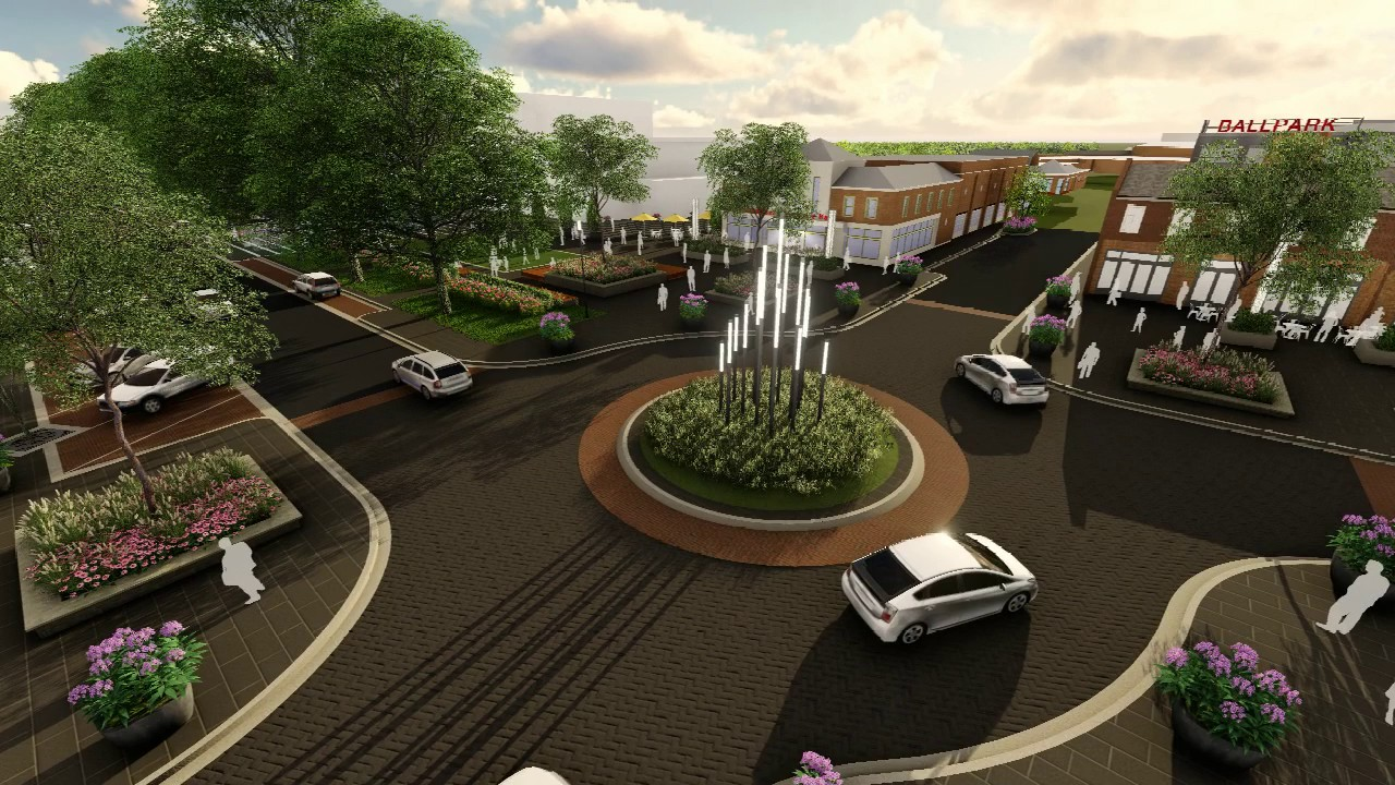 kannapolis streetscape - west avenue animation