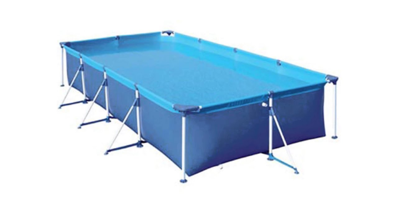 Piscina de lona pvc mor premium 5000 litros youtube for Piscinas de 2 metros