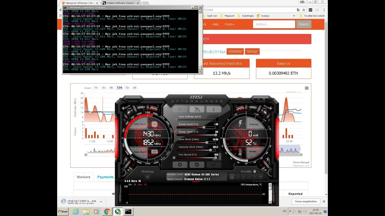 rx 560 bitcoin mining hashrate