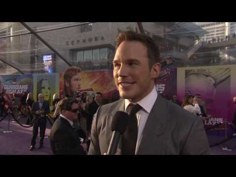 "Guardians of the Galaxy Vol. 2: Chris Pratt ""Peter Quill"" Red Carpet Movie Premiere Interview"