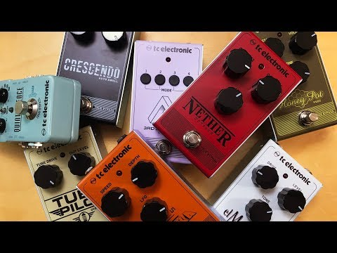 Unboxing And First Impressions Of 8 Pedals From TC Electronics