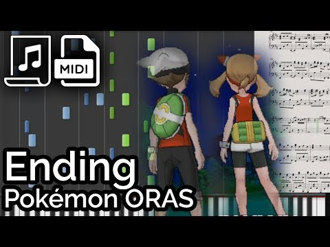 Pokémon ORAS - Ending (Synthesia Piano Tutorial)