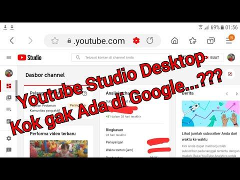 Cara agar bisa masuk ke tampilan desktop Dashboard Youtube Studio ,tidak bisa dibuka di google
