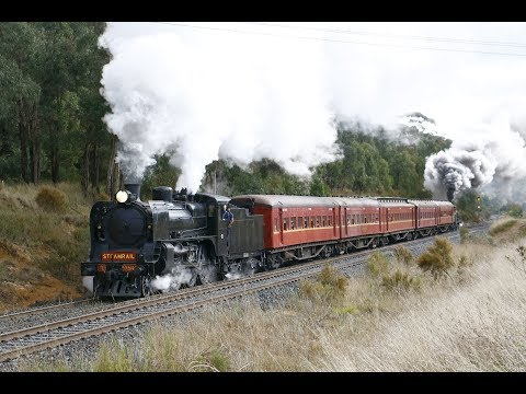 Riding the Steamrail Ballarat-Lal Lal Shuttle with A2 986 and Y112- 28/5/17