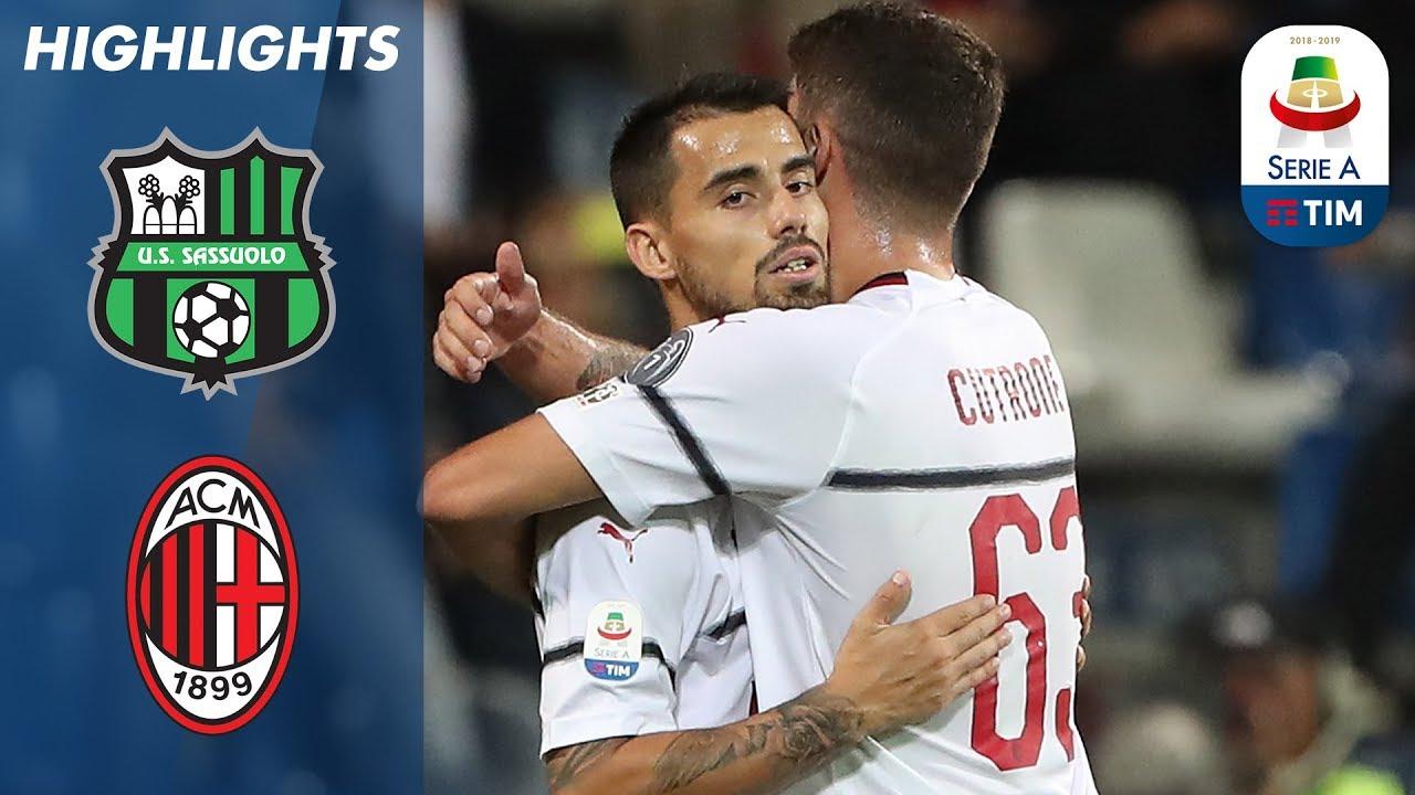 Sassuolo Unu Patru Ac Milan Suso Bags Brace As Thrash Serie