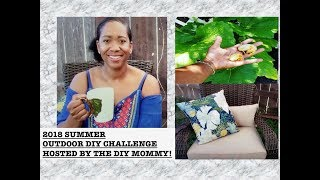 OUTDOOR DIY CHALLENGE WITH THE DIY MOMMMY| SAHM|| HELEN H