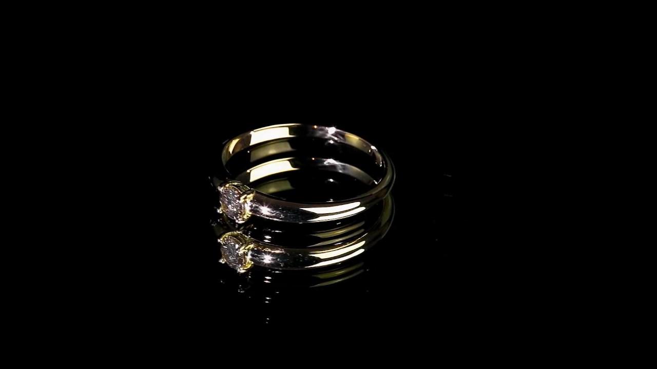 Золотые серьги-гвоздики с бриллиантами - YouTube