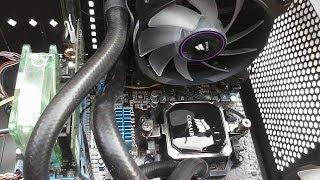 como colocar watercooler corsair h60 no gabinete v3 black edition