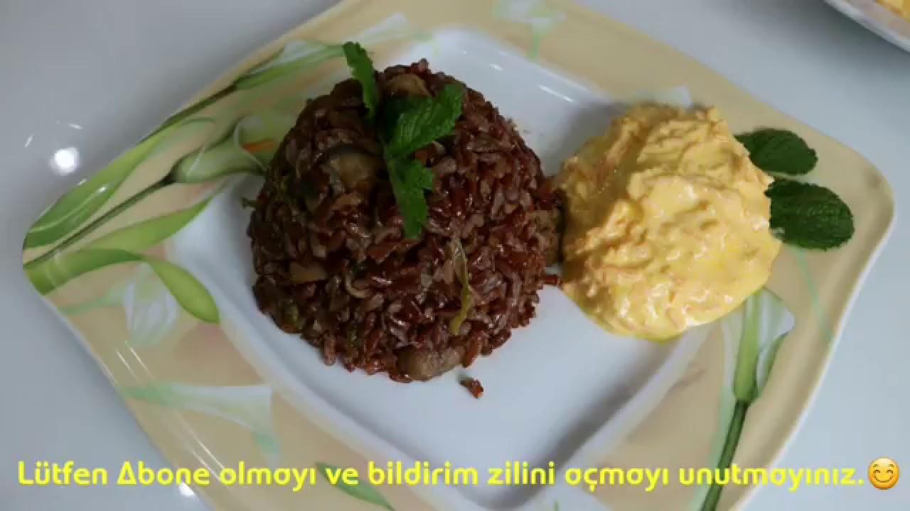 Etli Mantarlı Kırmızı Pirinç Pilavı Tarifi, Nasıl Yapılır? Kırmızı Pirinç Pilavı