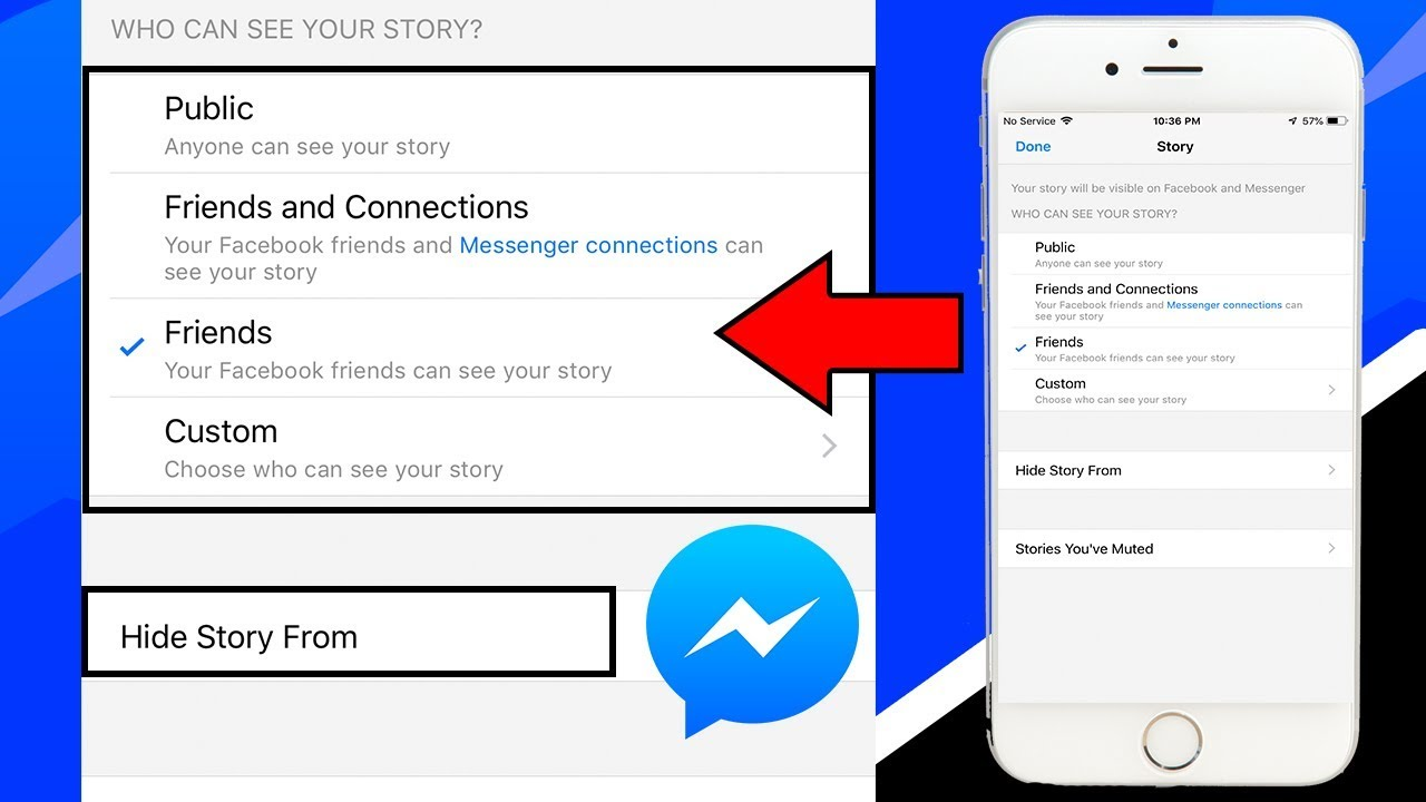 How To Choose Who Can See My Day Facebook Messenger on iPhone