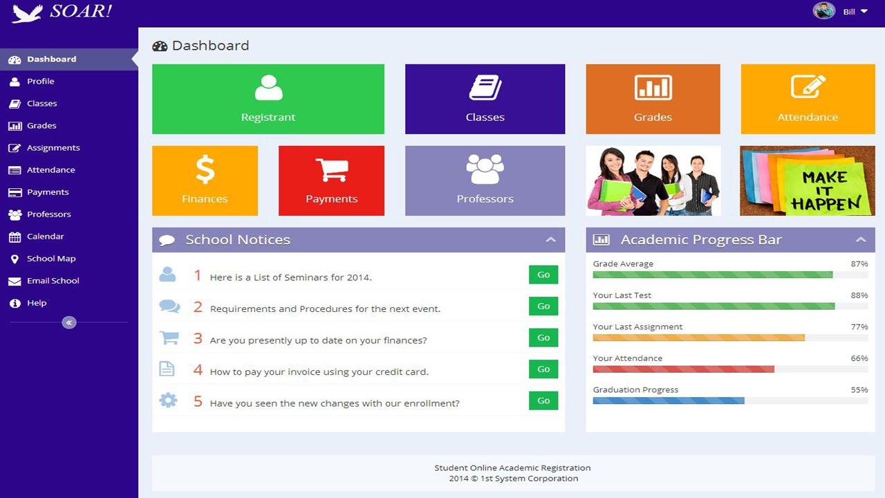 online student registration system project