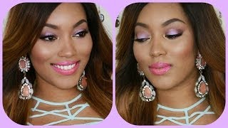 {Makeup Tutorial} MAC Moody Blooms Summer Purple Eyes & Bright Pink Lips Thumbnail
