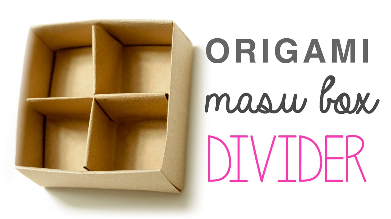 Origami Masu Box Divider Tutorial