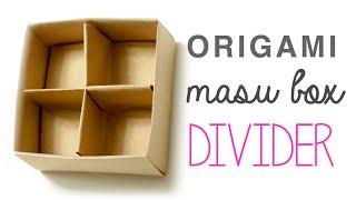 Origami Masu Box Divider | Paolo Bascetta