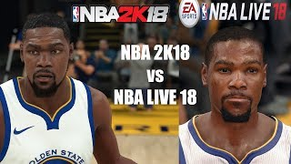 NBA 2K18 vs NBA LIVE 18 | Graphics/Face/Gameplay Comparison