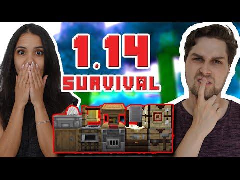 Wat Zijn Al Deze Dingen?!😰  - 1.14 Survival Met Vriendin!