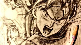 ASMR | Pencil Drawing 98 | Ultra Instinct Goku (Request)
