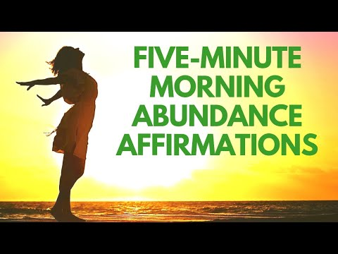 5 Minute Morning AFFIRMATIONS for Abundance | 21 Day Challenge