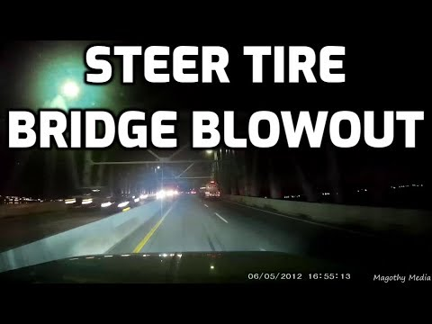 Steer Tire Blowout on the Key Bridge