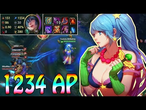 1234 FULL AP SONA - OP Late Game !!! [lol german gameplay]