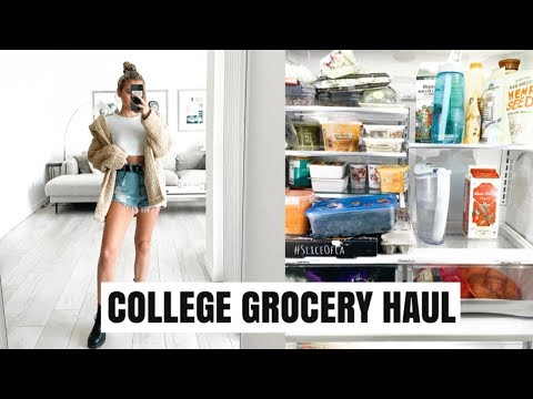GROCERY HAUL: WHAT I EAT IN A WEEK IN COLLEGE