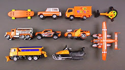 Learning Orange Street Vehicles for Kids - Cars and Trucks by Hot Wheels Matchbox Tonka Tomica