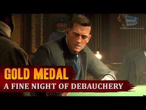 Red Dead Redemption 2 - Mission #52 - A Fine Night of Debauchery [Gold Medal]