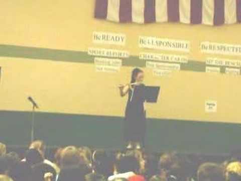 Juliana flute playing