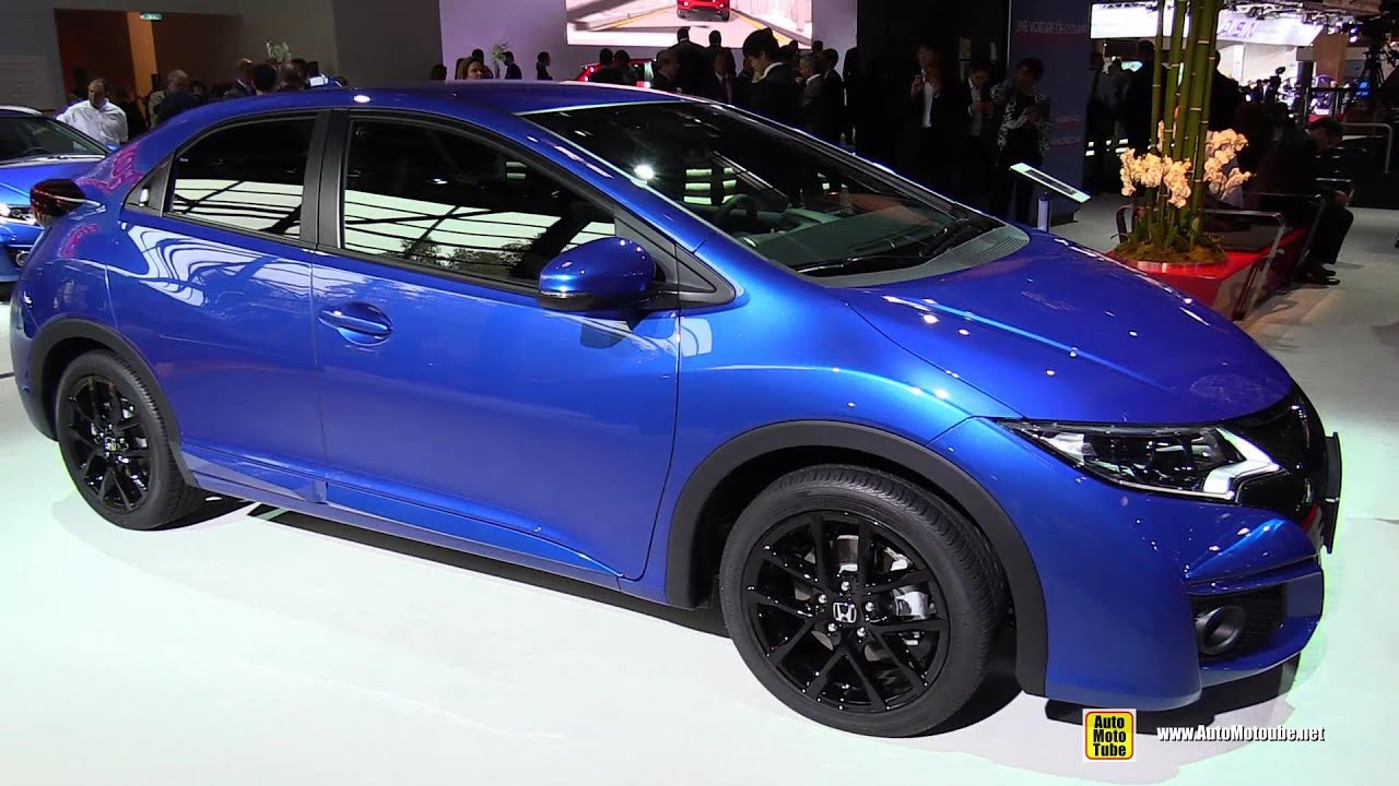 2015 honda civic 1 8 i vtec sport navi exterior walkaround 2014 paris auto show youtube. Black Bedroom Furniture Sets. Home Design Ideas