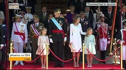 Thronwechsel in Spanien - Fahrt des Königs durch Madrid am 19.06.2014