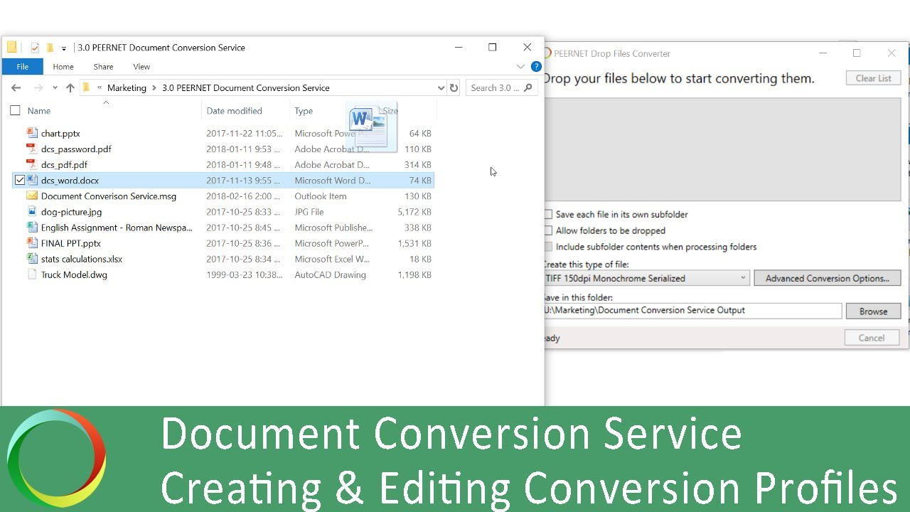 Integrate Document Conversion into your App   Batch File