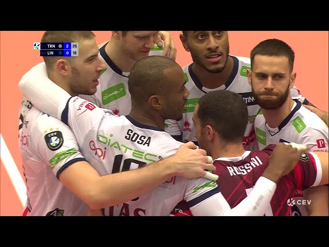 Highlights di Lindaren Volley-Trentino Itas 0-3 (CEV Champions League, 2nd Round, Pool H)