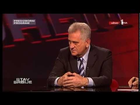 Sociolog, profesor Univerziteta u Beogradu Jovo Bakić ispituje Tomislava Nikolića