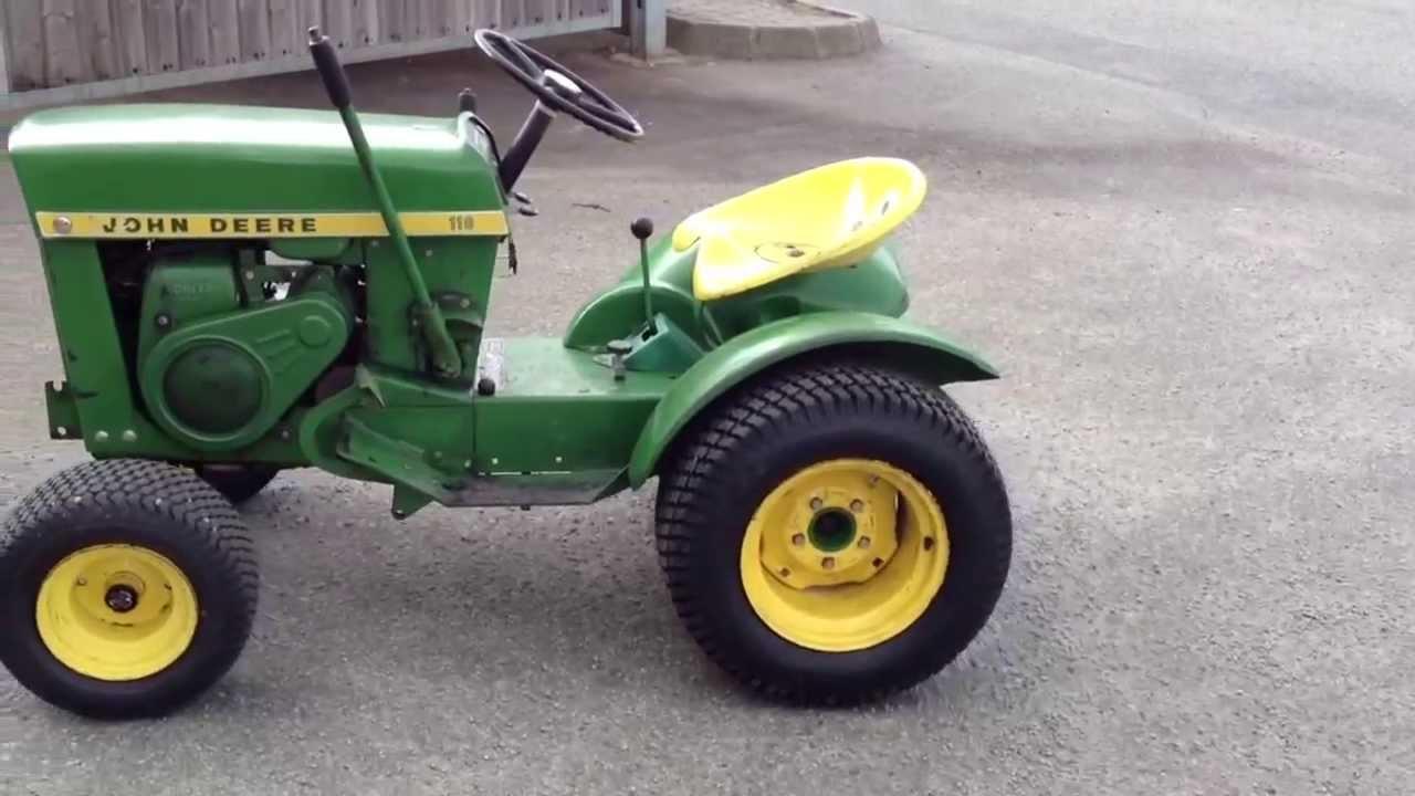 John Deere 110 Garden Tractor Test Drive With Creeper