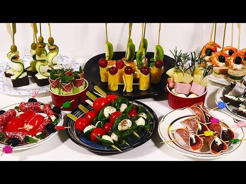 10 Легких И Быстрых Закусок, На Праздничный Стол! Рецепты Канапе но Новый год!