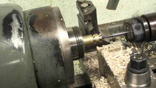 Turret lathe running production brass thumb nuts