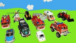 Firetruck, Traktor & Bagger Geschichten mit Spielzeug für Kids